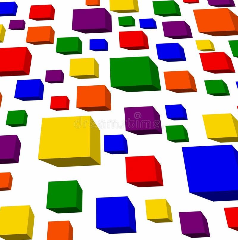 Cubes en arc-en-ciel photos stock