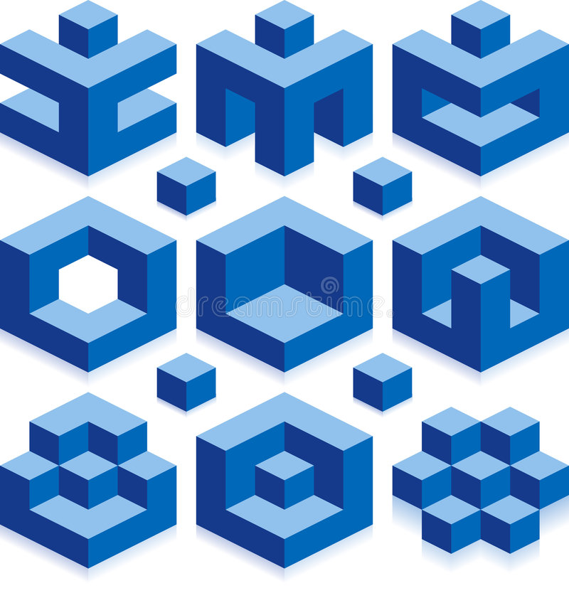 cubes en borg illustration stock