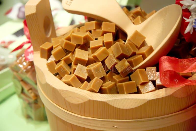 Cubes en caramel photos libres de droits