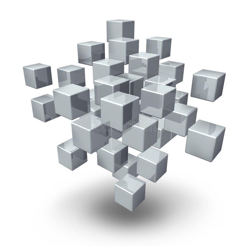 Cubes en connexion réseau illustration de vecteur