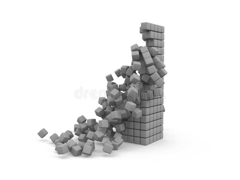 Cubes en effondrement photo libre de droits