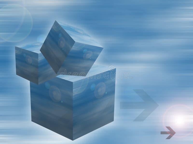 cubes en fond photos stock