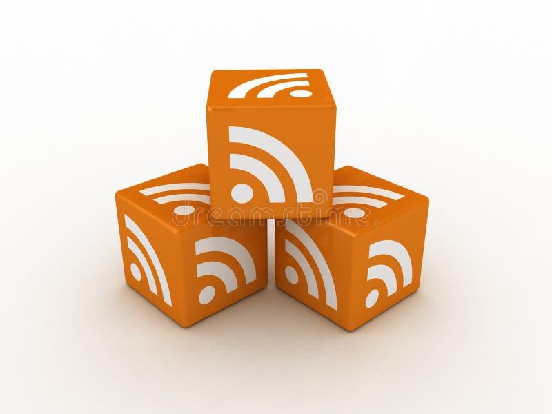 cubes en graphisme de 3D RSS illustration stock