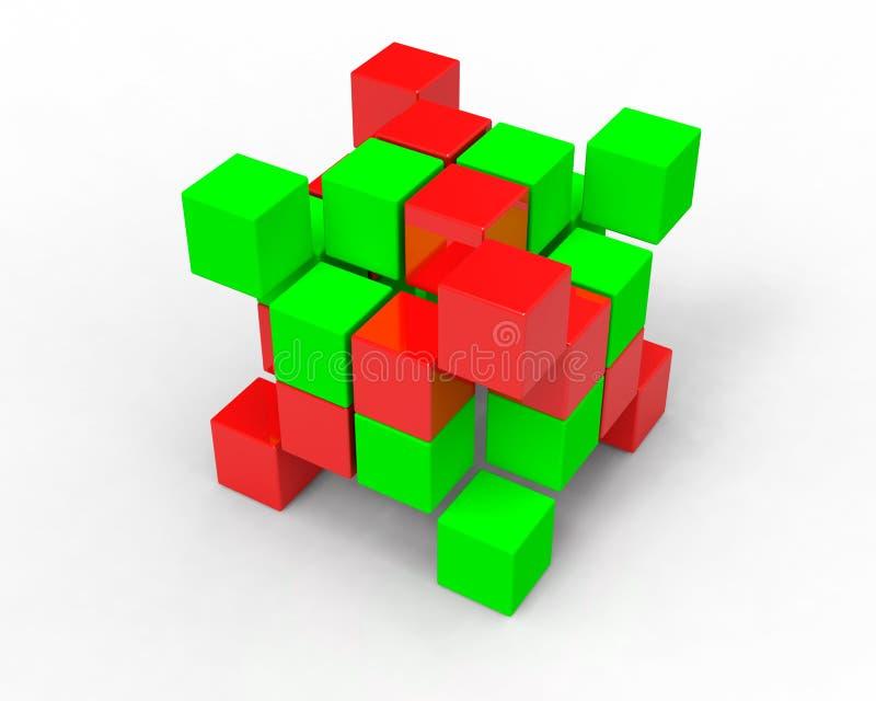 cubes en image 3d sur le blanc photos stock