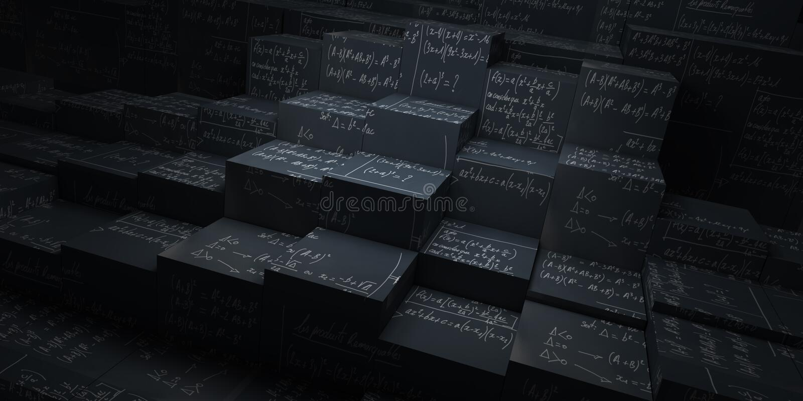 Cubes en maths illustration stock