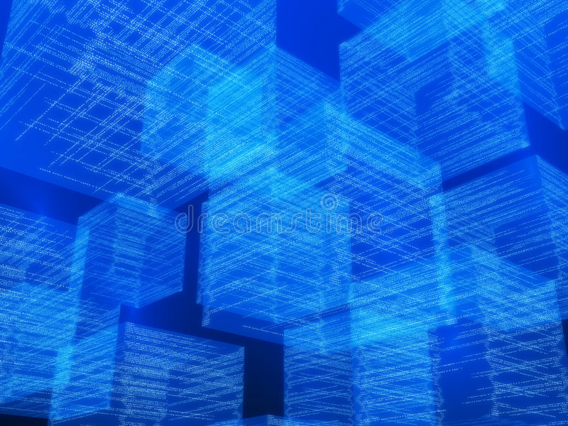 Cubes en matrice illustration libre de droits