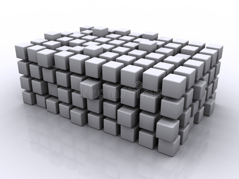 Cubes en puzzle illustration stock