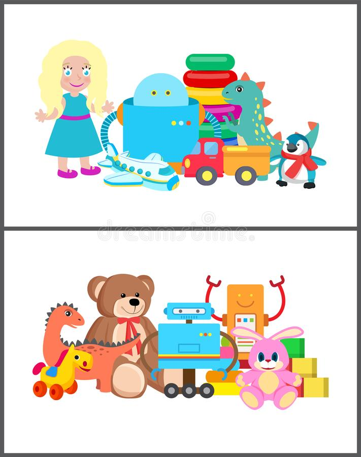 Cubes et Bunny Collection Vector Illustration illustration stock