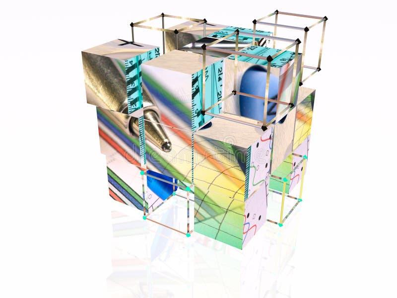 Cubes et trames illustration libre de droits