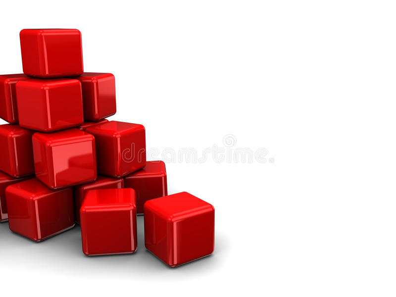 Download Cubes heap stock illustration. Image of cube, elements - 21820505