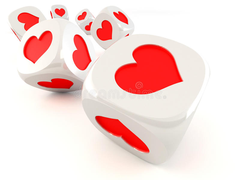 Cubes with heart stock photo