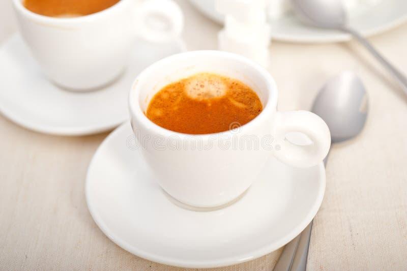 Cubes italiens en café et en sucre d'expresso image stock