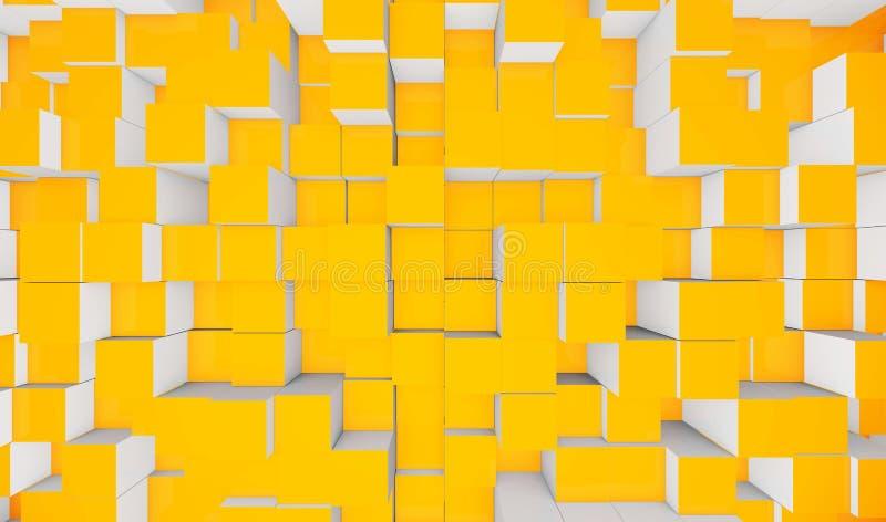 Cubes jaunes photos stock