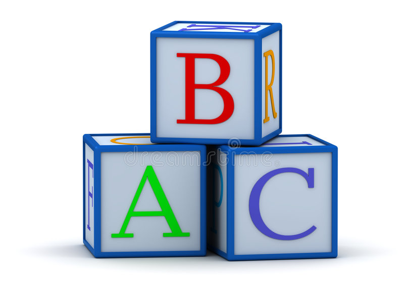 Download Cubes with letters ABC stock illustration. Image of square - 2081233