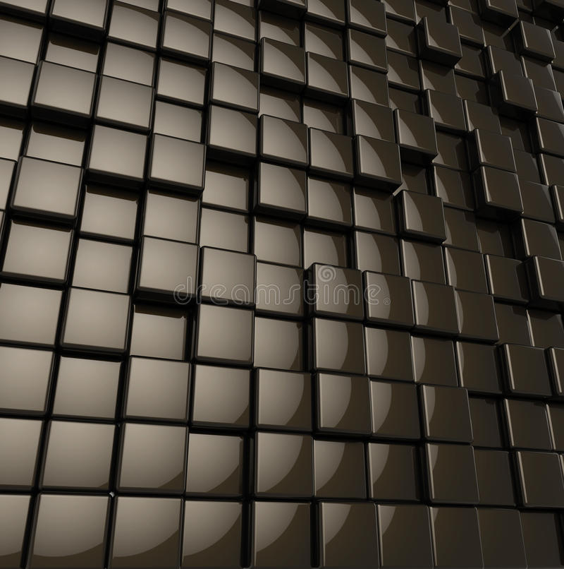 Cubes noirs brillants arrondis par résumé illustration de vecteur