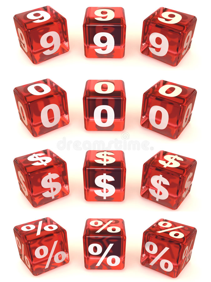 Download Cubes with numbers stock illustration. Illustration of block - 4318356