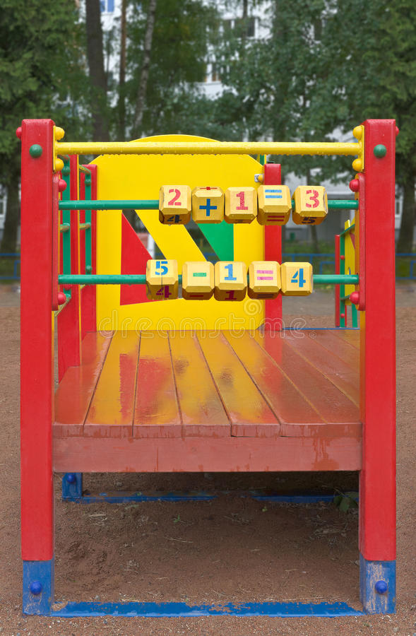 Cubes on playground royalty free stock photography