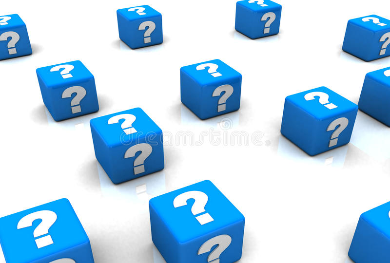 Cubes with Question Marks vector illustration