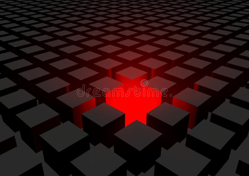 Download Cubes stock illustration. Image of colorful, cutout, square - 35494194