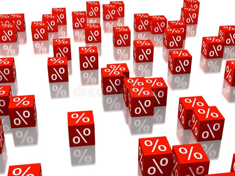 Cubes rouges illustration de vecteur