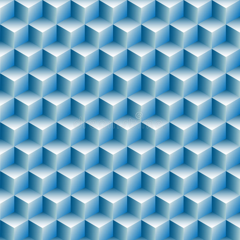 Cubes rows optical illusion background abstract stock illustration