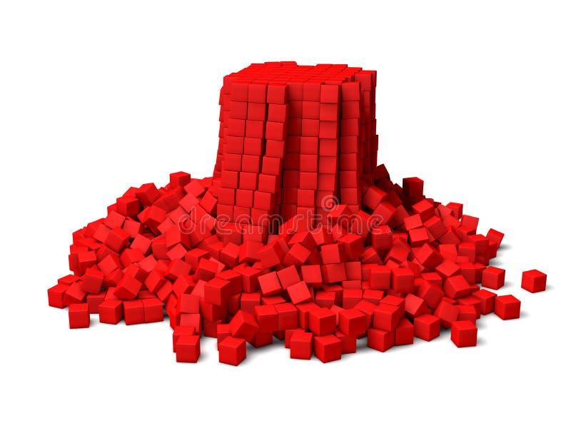 Cubes s'effondrants illustration stock