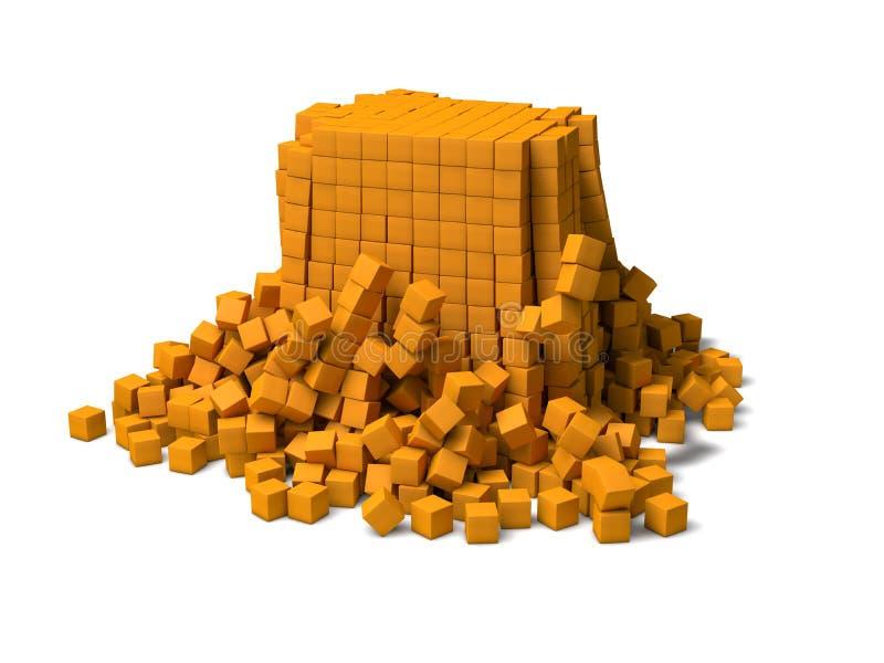 Cubes s'effondrants illustration libre de droits
