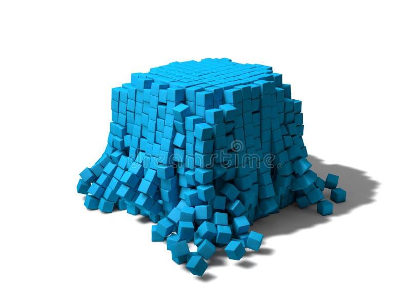 Cubes s'effondrants illustration de vecteur