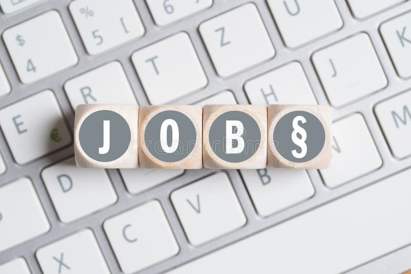 Cubes With The Word Job And A Paragraph Symbol Stock Photo Image
