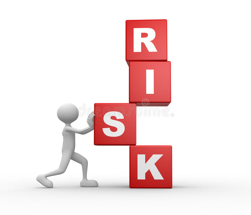Cubes and word RISK stock illustration