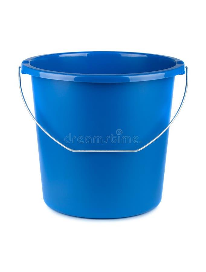 Cubeta azul vazia fotografia de stock royalty free
