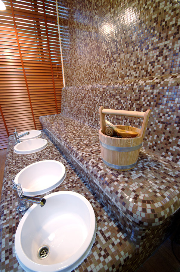 Cubeta da sauna fotos de stock royalty free