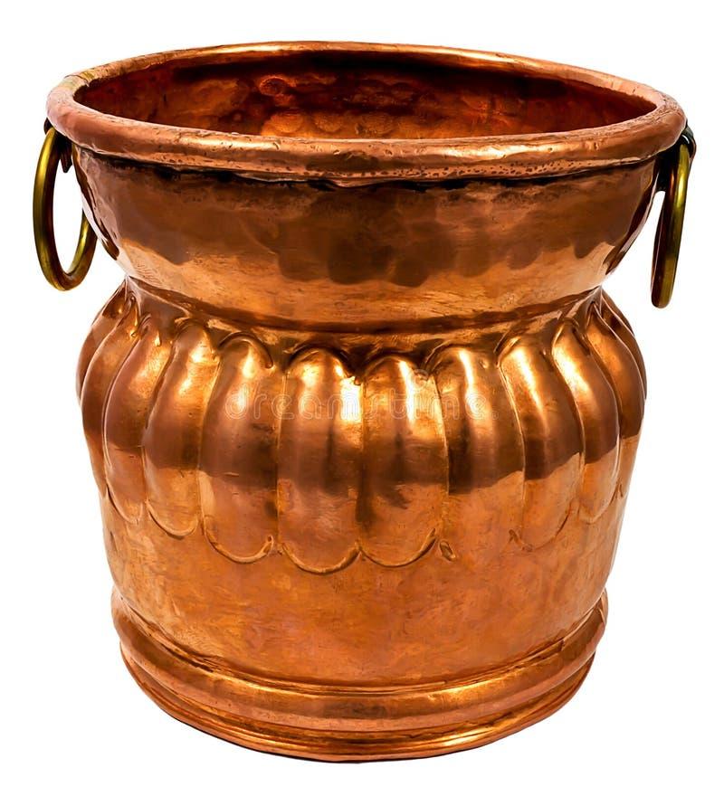 Cubeta de cobre foto de stock