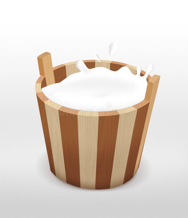 Cubeta do leite. imagem de stock