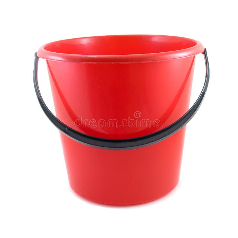 Cubeta vermelha fotografia de stock