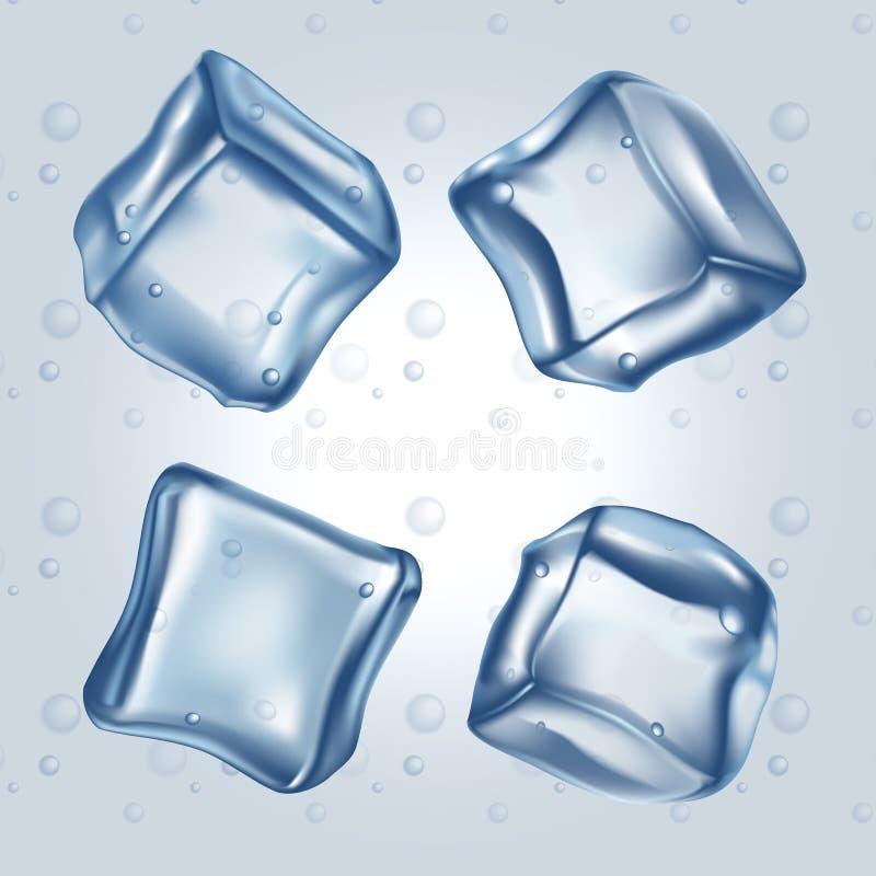 Cubetti di ghiaccio messi royalty illustrazione gratis