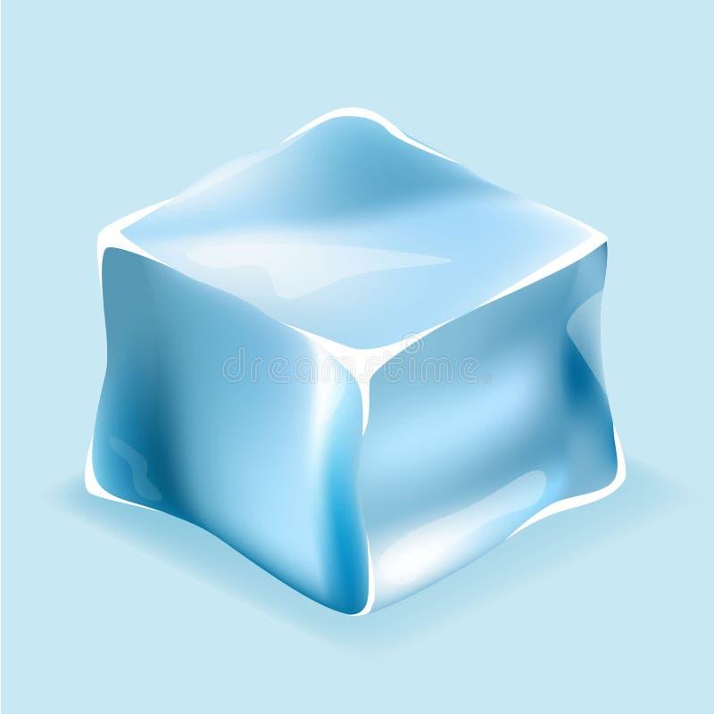 Cubetti di ghiaccio nei colori blu illustrazione vettoriale