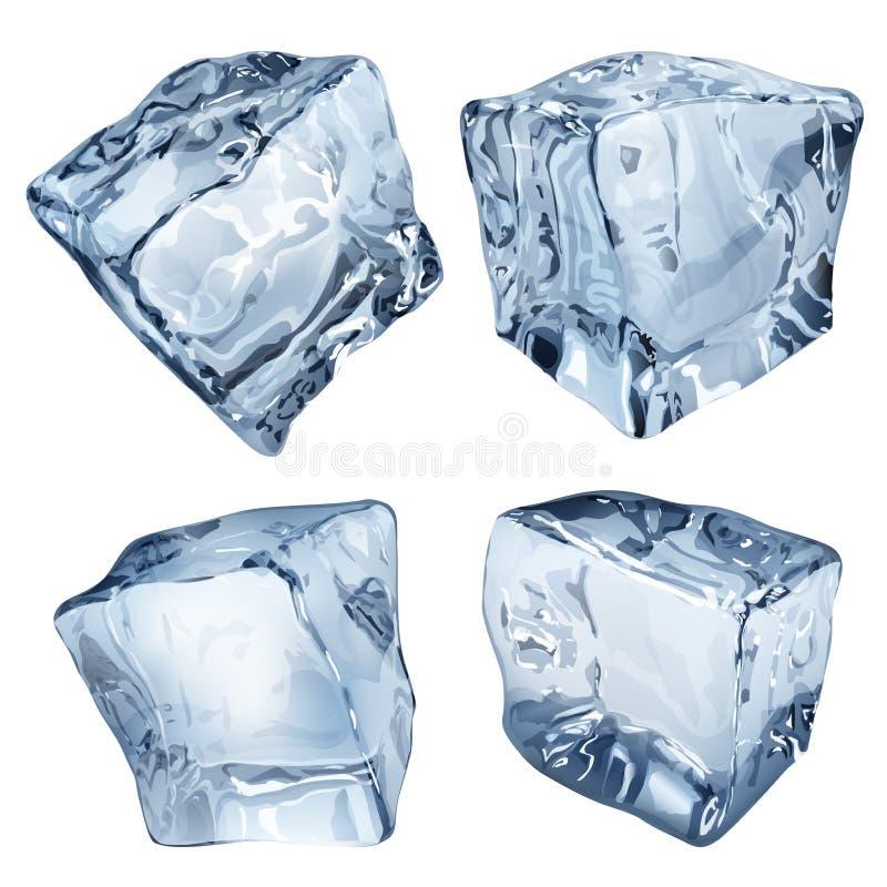 Cubetti di ghiaccio opachi illustrazione vettoriale