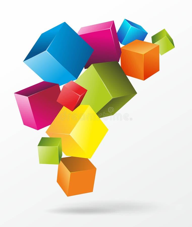 Cubi illustrazione di stock