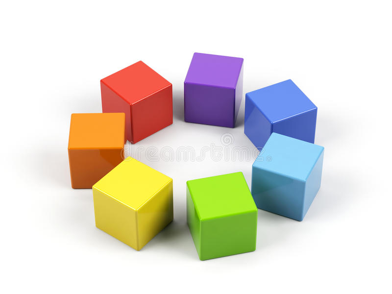cubi 3d. illustrazione vettoriale