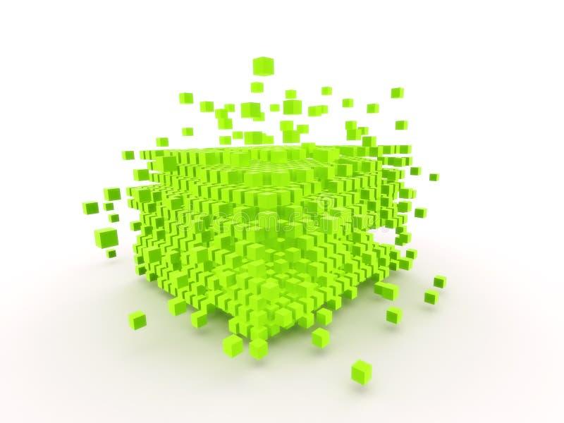 Cubi astratti illustrazione di stock