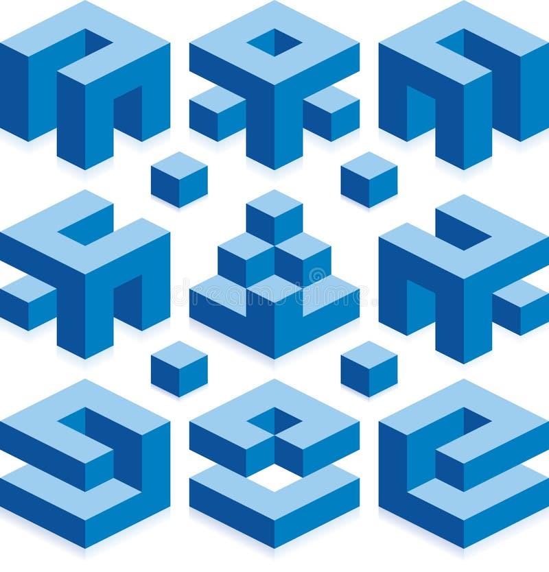 Elementi del modello della costruzione illustrazione di stock