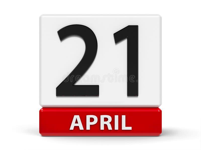 Cubi calendario 21 aprile illustrazione vettoriale