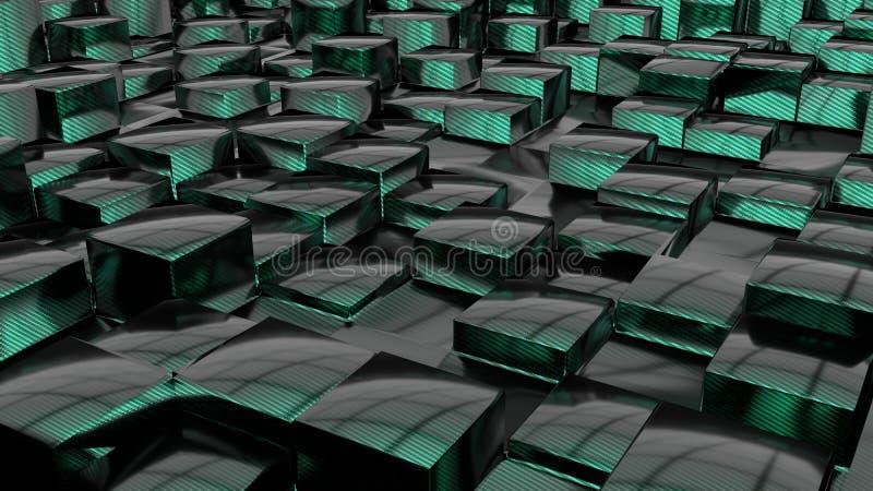 Cubi del carbonio royalty illustrazione gratis