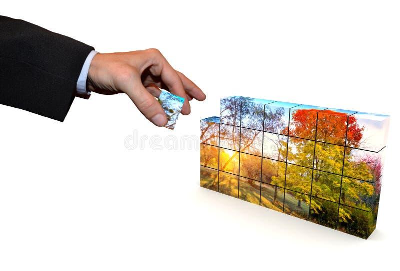 Cubi del mosaico illustrazione vettoriale