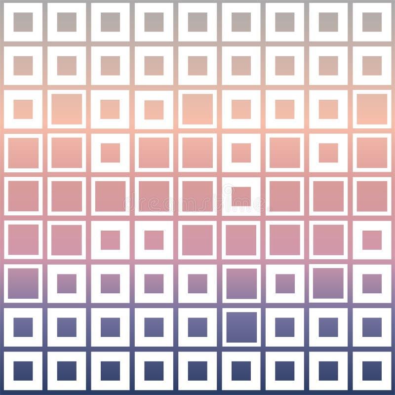 Cubi del mosaico su colore pastello illustrazione di stock