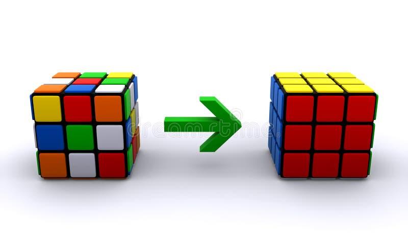 Cubi del Rubik illustrazione di stock
