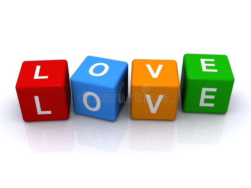 Cubi di amore royalty illustrazione gratis