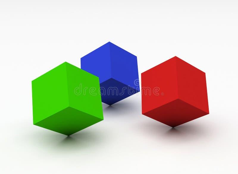 Cubi di colore illustrazione di stock