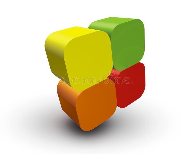 Cubi di colore illustrazione vettoriale